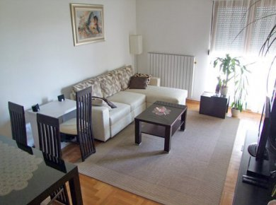 Furnished, 2-bedroom apartment (76m2) with a view of the Lake Jarun