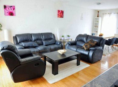 Furnished, 3-bedroom apt (90m2) with a garden, terrace and a garage