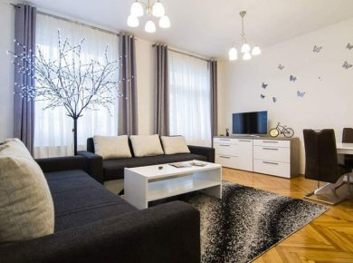 Furnished, 1-bedroom apt (60m2) in the heart of the city